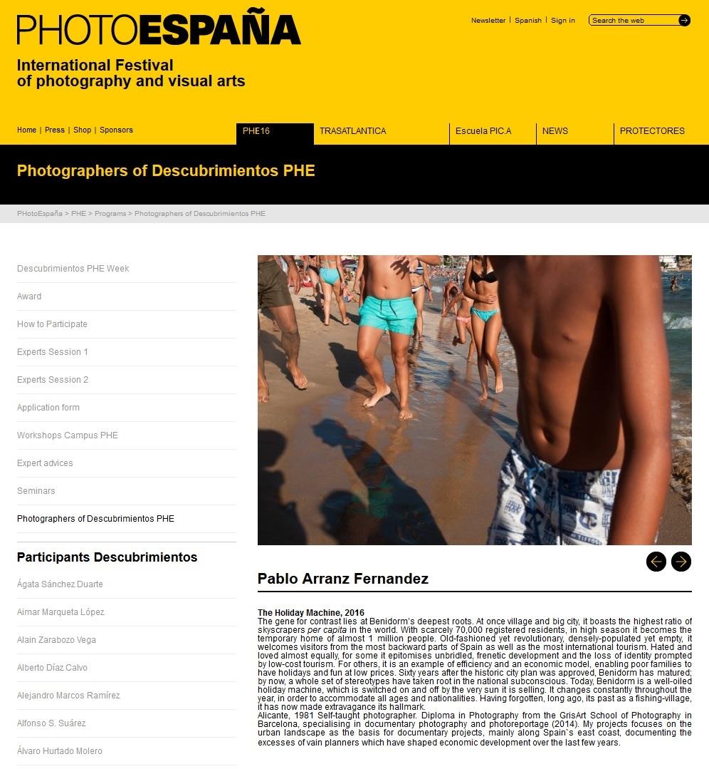 Descubrimientos PhotoEspaña